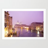 Venice At Night Art Print