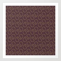 Royal Paisley Art Print