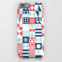 iPhone & iPod Case featuring Tradewinds navy by Jenny Tiffany