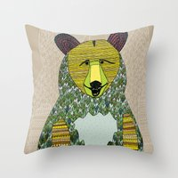 Hello, Bear Throw Pillow