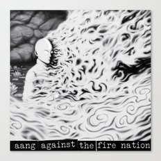 Aang Against the Fire Nation Canvas Print