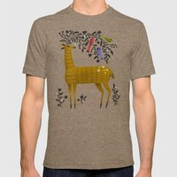 BLOOMING ANTLERS Mens Fitted Tee Tri-Coffee SMALL