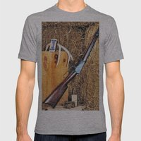 Winchester Rifle Mens Fitted Tee Athletic Grey SMALL