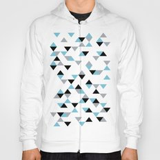 Triangles Ice Blue Hoody