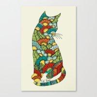Cat lover Canvas Print
