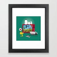 Duck Game Framed Art Print