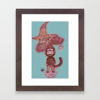 Journey to the what? Framed Art Print