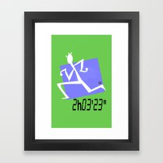 Marathon record time Framed Art Print