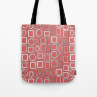 Picture Frames Coral Tote Bag