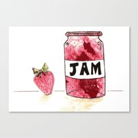 Strawberry VS Jam Canvas Print