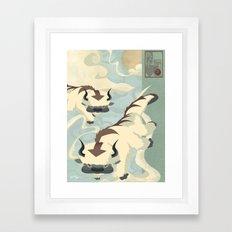 Original Bending Masters Series: Sky Bison Framed Art Print