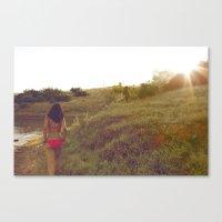 At The Lake Canvas Print