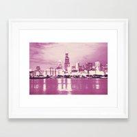 Pink Chicago Framed Art Print