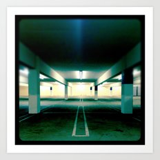 Empty parking lot. Art Print