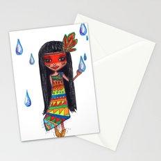 A menina que chovia Stationery Cards
