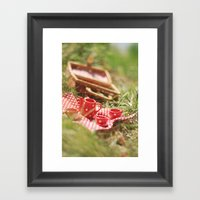 Riverside Teaparty Framed Art Print