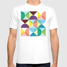 Geometry for Modern Houses (2010) White Mens Fitted Tee SMALL
