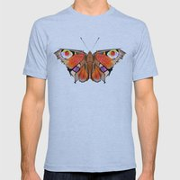 Geobutterfly Mens Fitted Tee Athletic Blue SMALL