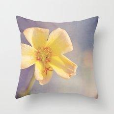A Little Yellow Flower Throw Pillow