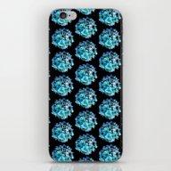 Green Blue Hydrangea Pat… iPhone & iPod Skin