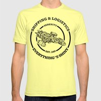 SERENITY SHIPPING AND LO… Mens Fitted Tee Lemon SMALL