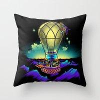 Light Flight Throw Pillow