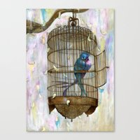 Birds In Love! Canvas Print