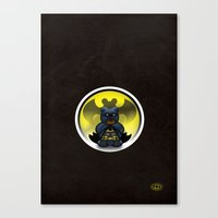 Super Bears - the Moody One Canvas Print
