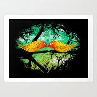 mustache Art Prints featuring mustache by sustici