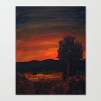 Fireflies At The Pond Canvas Print