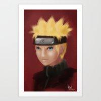 Uzumaki Naruto Art Print