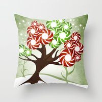 Magic Candy Tree - V2 Throw Pillow