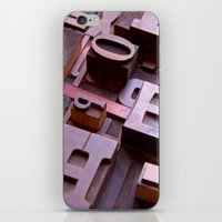 3D Letters - Typography … iPhone & iPod Skin