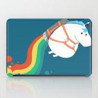 Fat Unicorn On Rainbow J… iPad Case