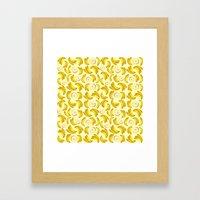 Banana Fruity Pattern  Framed Art Print
