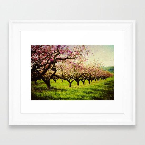 Orchard play Framed Art Print