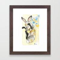 Glowing Jackrabbit Framed Art Print