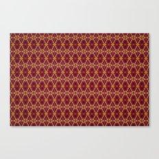 Lattice - Red Canvas Print
