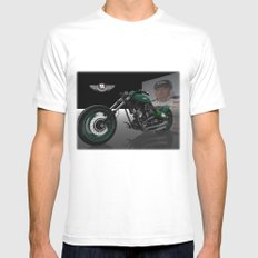 Dale Earnhardt Jr. Harley SMALL White Mens Fitted Tee