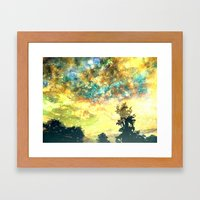 Stirring Starry Night Framed Art Print