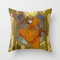 Enlightened Filament Throw Pillow