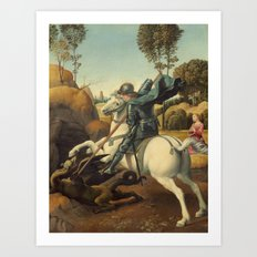 Raphael - Saint George and the Dragon Art Print
