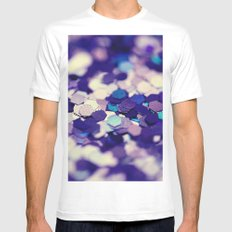 Grape Mix - an abstract photograph SMALL White Mens Fitted Tee