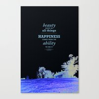 Inspirational - Beauty Canvas Print