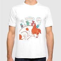 Morran Mens Fitted Tee White SMALL