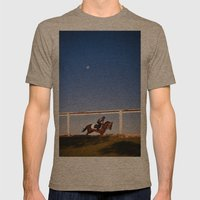 A rider and a horse Mens Fitted Tee Tri-Coffee SMALL