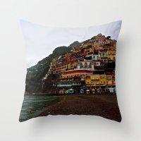Positano: Amalfi Coast, … Throw Pillow