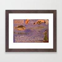 NEURAL ANOMALY Framed Art Print