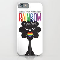 iPhone & iPod Case featuring Rainbow Heart by Tratinchica
