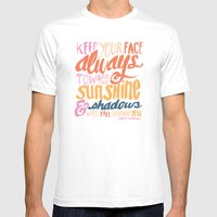 ...TOWARDS THE SUNSHINE Mens Fitted Tee White SMALL